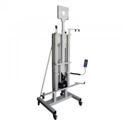 Support pour VPI, déplaçable à roulettes avec système d'ascenseur motorisé