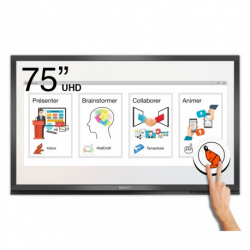 Ecran interactif tactile Android + Windows SpeechiTouch Pro UHD - 75""