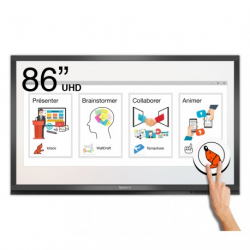 Ecran interactif tactile Android + Windows SpeechiTouch Pro UHD - 86""