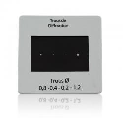 Diapositive 4 trous de diffraction
