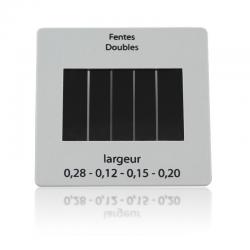 Diapositive fentes de Young à largeur variable
