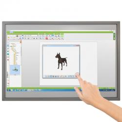 Tableau blanc interactif fixe tactile, 10 points de touch 206 x 124 cm